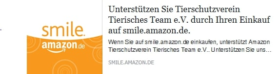 TSV Tierisches Team e.V. Amazon.Smile